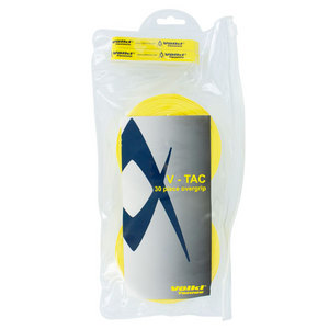 VOLKL V-TAC 30 PACK YELLOW TENNIS OVERGRIP