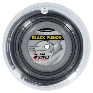 Black Fusion 1.28MM/16G Reel Tennis String