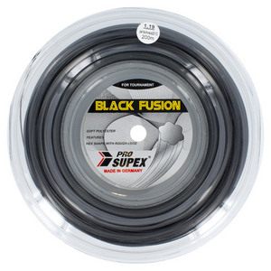 Black Fusion 1.19MM/18G Reel Tennis String