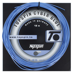 TOPSPIN CYBERBLUE 1.25MM/17G TENNIS STRING