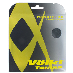 VOLKL POWER FIBER II 16G BLACK TENNIS STRING