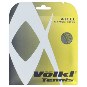 V-Feel Yellow Black Spiral 17G Tennis String