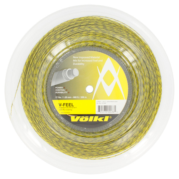 V- Feel Yellow Black Spiral 17g Reel Tennis String