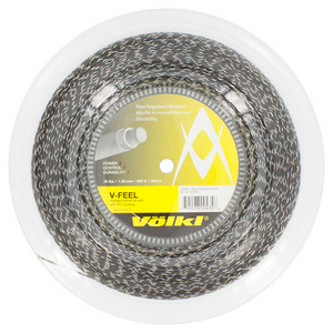 V-Feel Black Silver Spiral 16G Reel Tennis String