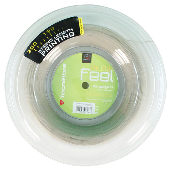 Multi- Feel 17g Reel Natural Tennis String