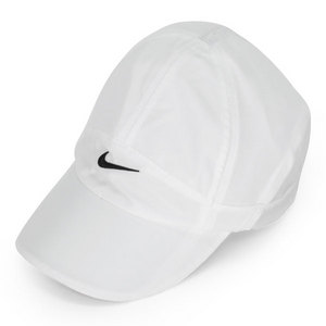 NIKE WOMENS FEATHER LIGHT TENNIS CAP WHITE