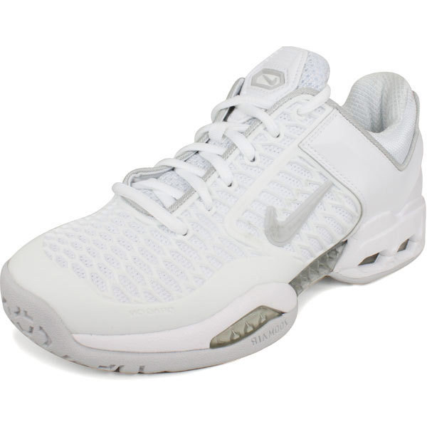 Nike Air Max Breathe Free Ii Women`s Tennis Shoes White/grey 12 White