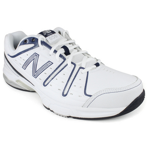 Men`s 656 White Navy 4E Width Tennis Shoes