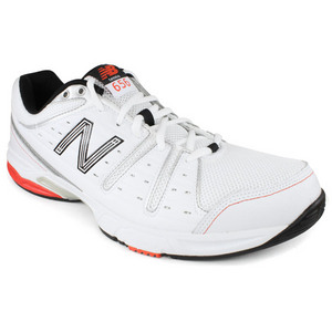 NEW BALANCE MENS 656 WHITE RED D WIDTH TENNIS SHOES