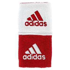 Interval Reversible Tennis Wristband Red and White