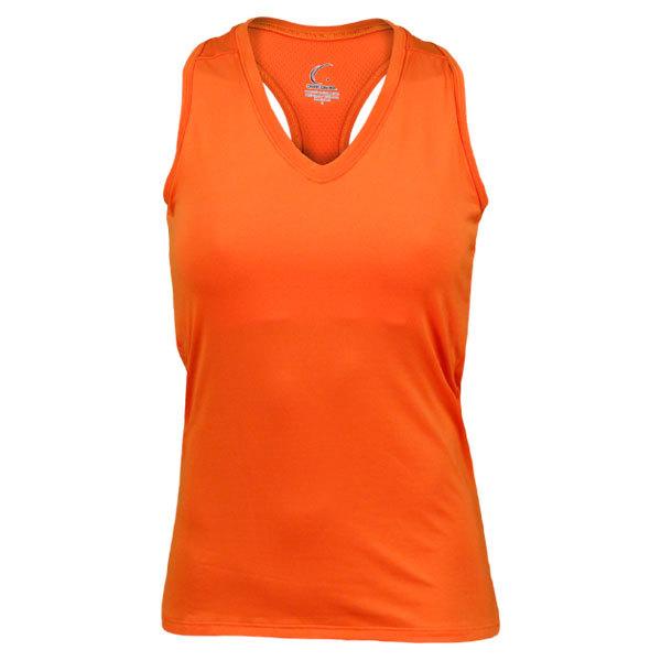 Women's Orange Resort Racerback Power Tennis Tank