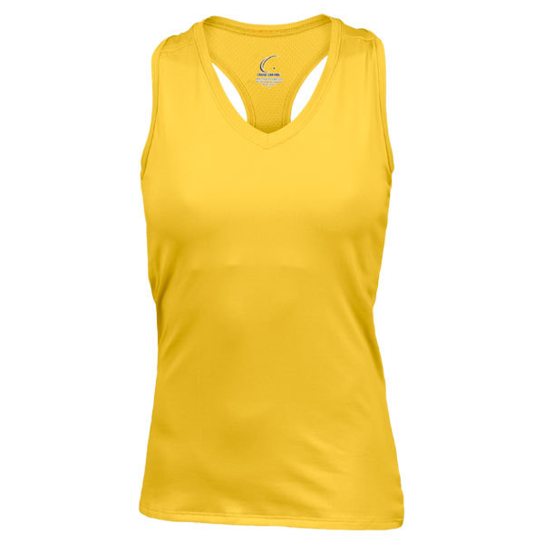 Women's Yellow Gold Resort Racerback Power Tennis Tank