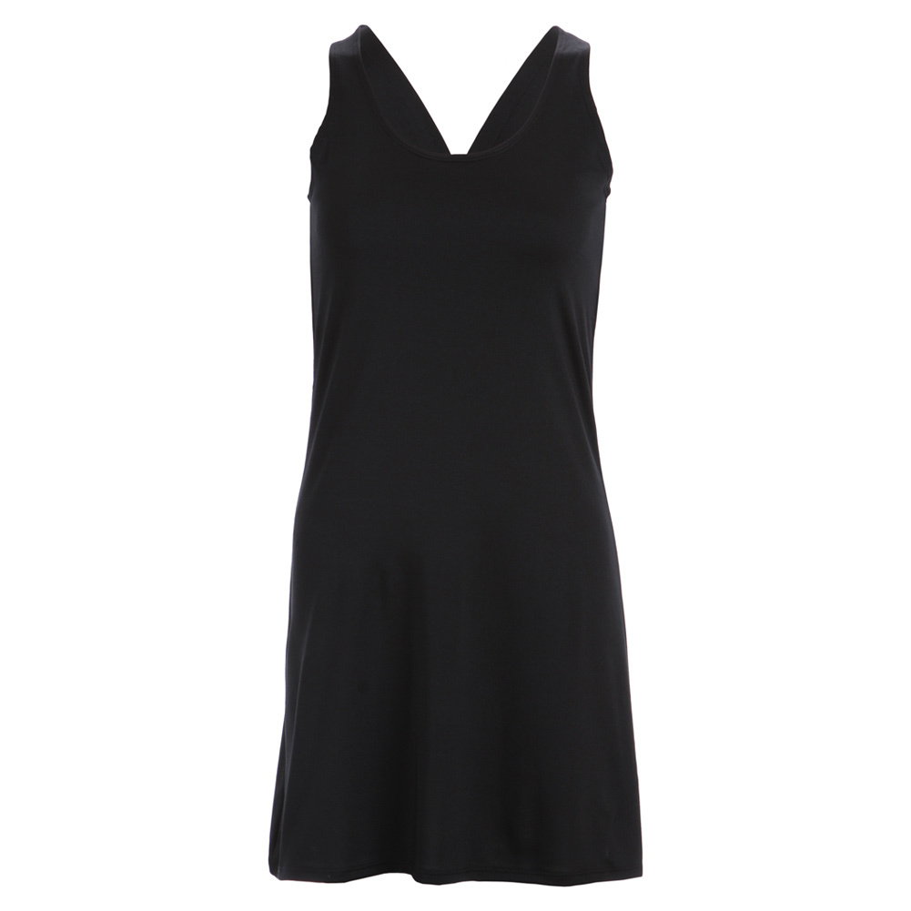 Women's Black Racerback Tennis Dress