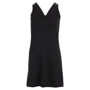 Women`s Black Racerback Tennis Dress