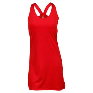 Women`s Red Racerback Tennis Dress