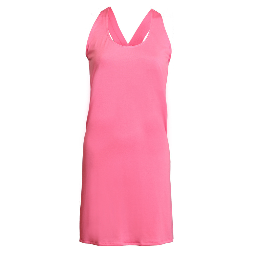 Women's Pink Racerback Tennis Dress