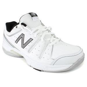 Women`s 656 White Silver B Width Tennis Shoes