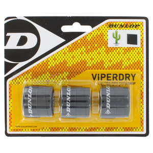 Viperdry Black 3 Pack Ultra Dry Tennis Overgrip