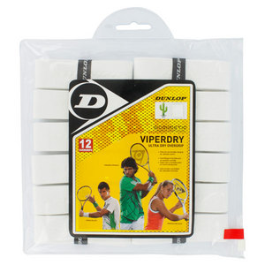 DUNLOP VIPERDRY WHITE 12 PK ULTRA DRY OVERGRIP