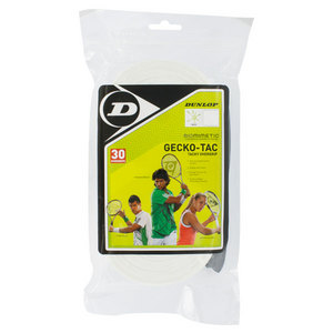 DUNLOP GECKO-TAC 30 PACK WHITE TENNIS OVERGRIP