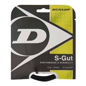 DUNLOP S-GUT 17G BLACK TENNIS STRING
