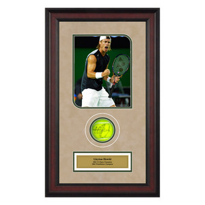 ACE AUTHENTIC LLEYTON HEWITT AUTOGRAPHED BALL MEMORAB