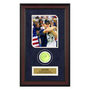 ACE AUTHENTIC ANDY RODDICK AUTOGRAPHED BALL MEMORAB