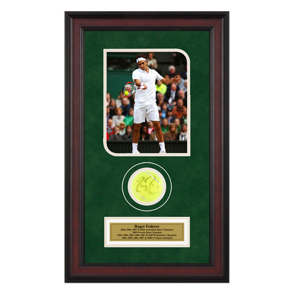 Roger Federer Autographed Ball Memorabilia