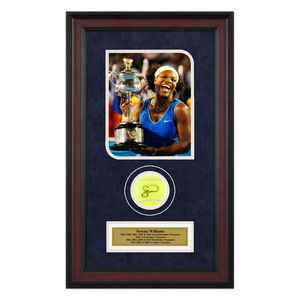 ACE AUTHENTIC SERENA WILLIAMS AUTOGRAPHED BALL MEMORAB