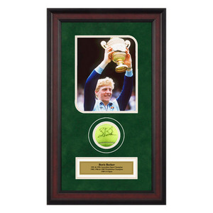 ACE AUTHENTIC BORIS BECKER AUTOGRAPHED BALL MEMORABIL