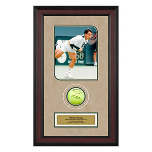 ACE AUTHENTIC MICHAEL CHANG AUTOGRAPHED BALL MEMORAB