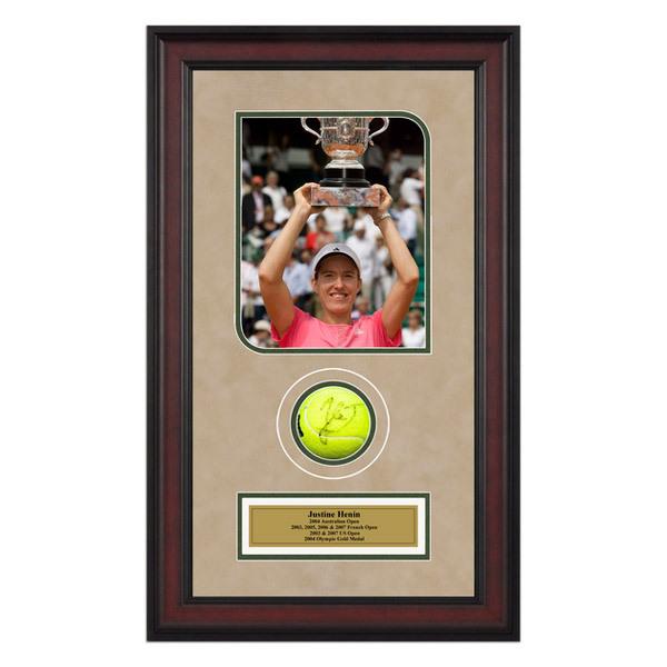 Justine Henin Autographed Ball Memorabilia