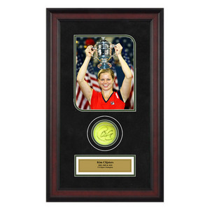 ACE AUTHENTIC KIM CLIJSTERS AUTOGRAPHED BALL MEMORAB