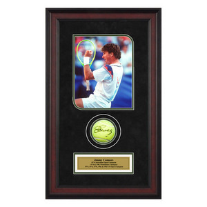 ACE AUTHENTIC JIMMY CONNORS AUTOGRAPHED BALL MEMORAB