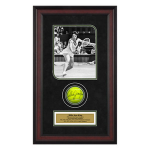 ACE AUTHENTIC BILLIE JEAN KING AUTOGRAPHED BALL MEMORA