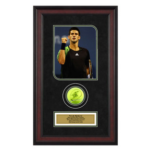 ACE AUTHENTIC NOVAK DJOKOVIC AUTOGRAPHED BALL MEMORAB