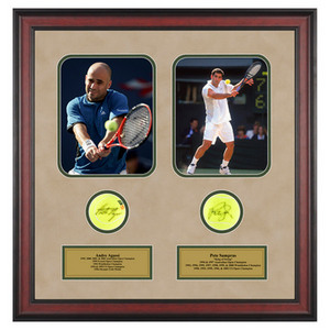 ACE AUTHENTIC ANDRE AGASSI AND PETE SAMPRAS MEMORABILA