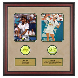 ACE AUTHENTIC ANDRE AGASSI AND STEFFI GRAF MEMORABILIA