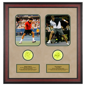 ACE AUTHENTIC ROGER FEDERER AND PETE SAMPRAS MEMORAB