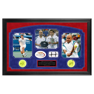 ACE AUTHENTIC ANDRE AGASSI AND PETE SAMPRAS US OPEN