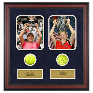 ACE AUTHENTIC JUSTINE HENIN AND KIM CLIJSTERS MEMORAB
