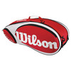 WILSON Tour Red/White 6 Pack Tennis Bag