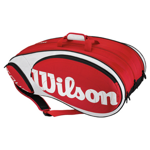 WILSON TOUR RED/WHITE 12 PACK TENNIS BAGS