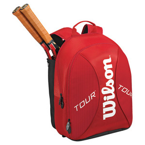 WILSON TOUR RED/WHITE TENNIS BACKPACK