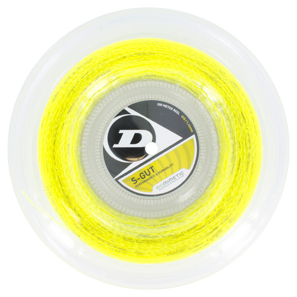 S- Gut 16g Yellow Tennis String Reel