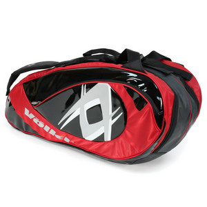VOLKL TEAM COMBI RED/BLACK TENNIS BAG
