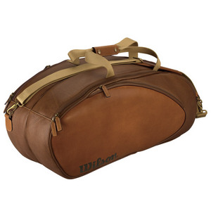 WILSON 6 PACK LEATHER TENNIS BAG