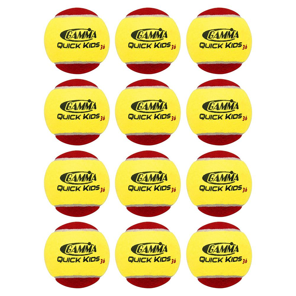 Quick Kids 36 Tennis Balls Twelve Pack