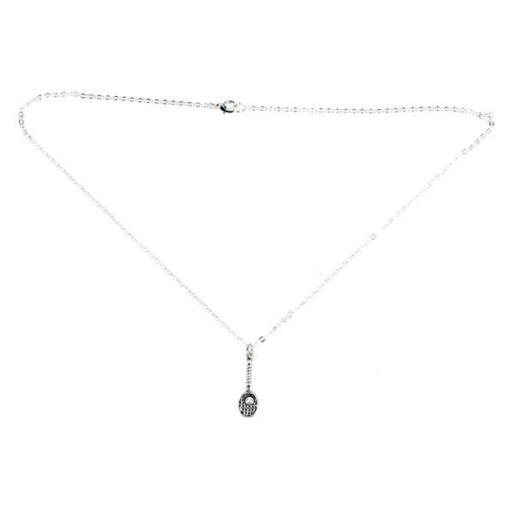 Single Racquet Necklace 18 Inch Chain