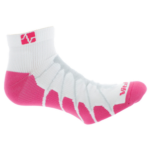 VITALSOX RUNNING PED LIGHT WEIGHT WHITE/PNK SOCKS